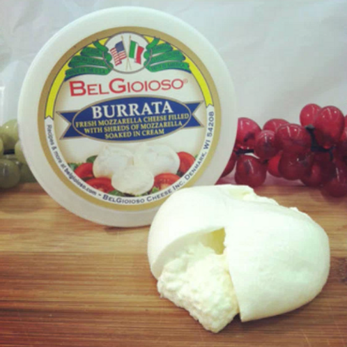 Belgioioso Burrata 8oz Cheese Ball per case