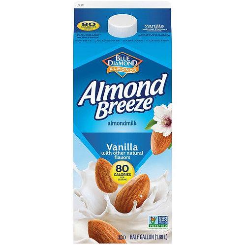 Almond Breeze Vanilla Almond milk 1/2 Gallon