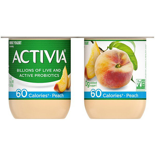 Activia Nonfat Probiotic Peach Yogurt 4pk