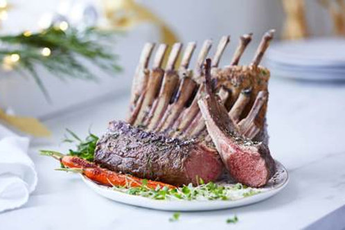 Lamb Rack Frenched 1.5 lb Average, 2 count