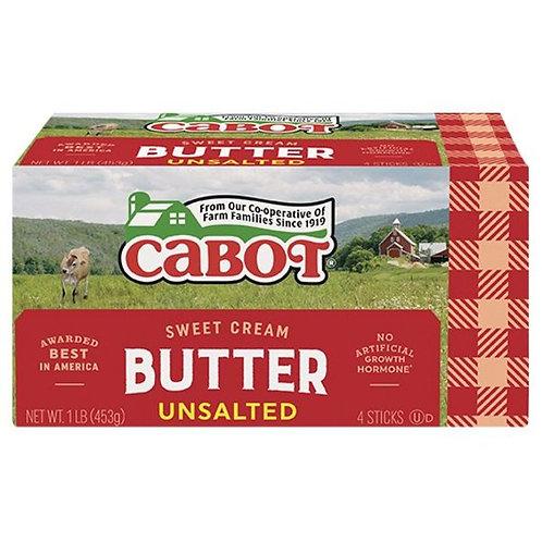 Cabot Creamery Unsalted Butter Quarter Sticks