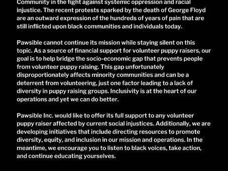 We stand with you #BlackLivesMatter
