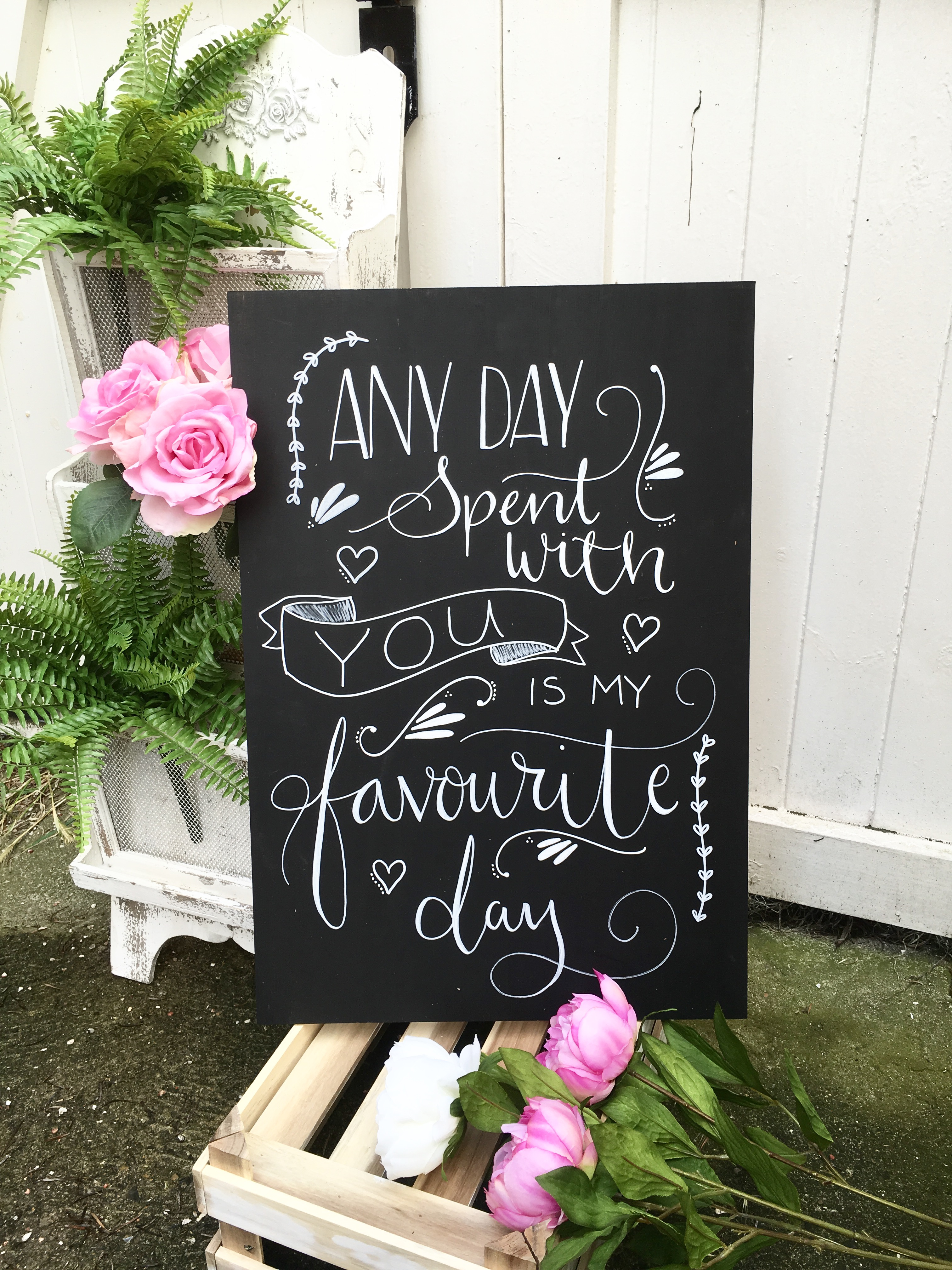 Wedding Quote Chalkboard