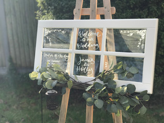 DIY Window Pane Upcycle - Rustic Wedding Decoration with Hand Lettering