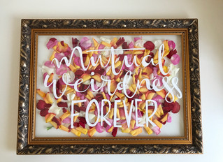 DIY Floating Petal Frame with Signwriting. Perspex or Glass