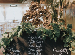 Real Wedding using Beginners Guide to Modern Signwriting