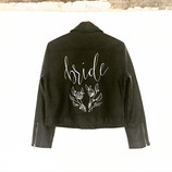 DIY Leather handpainted wedding jacket