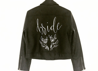 DIY Leather handpainted wedding jacket