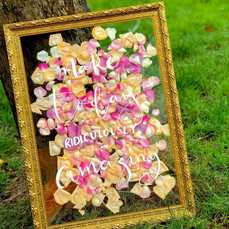 Perspex Petal Sign with Gold Frame DIY