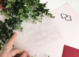 Perspex Save the Dates