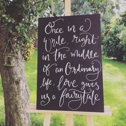 Wedding Quote Chalkboard