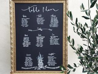 Wedding table seatingplan