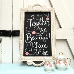 Upcycled Tea Tray Chalkboard