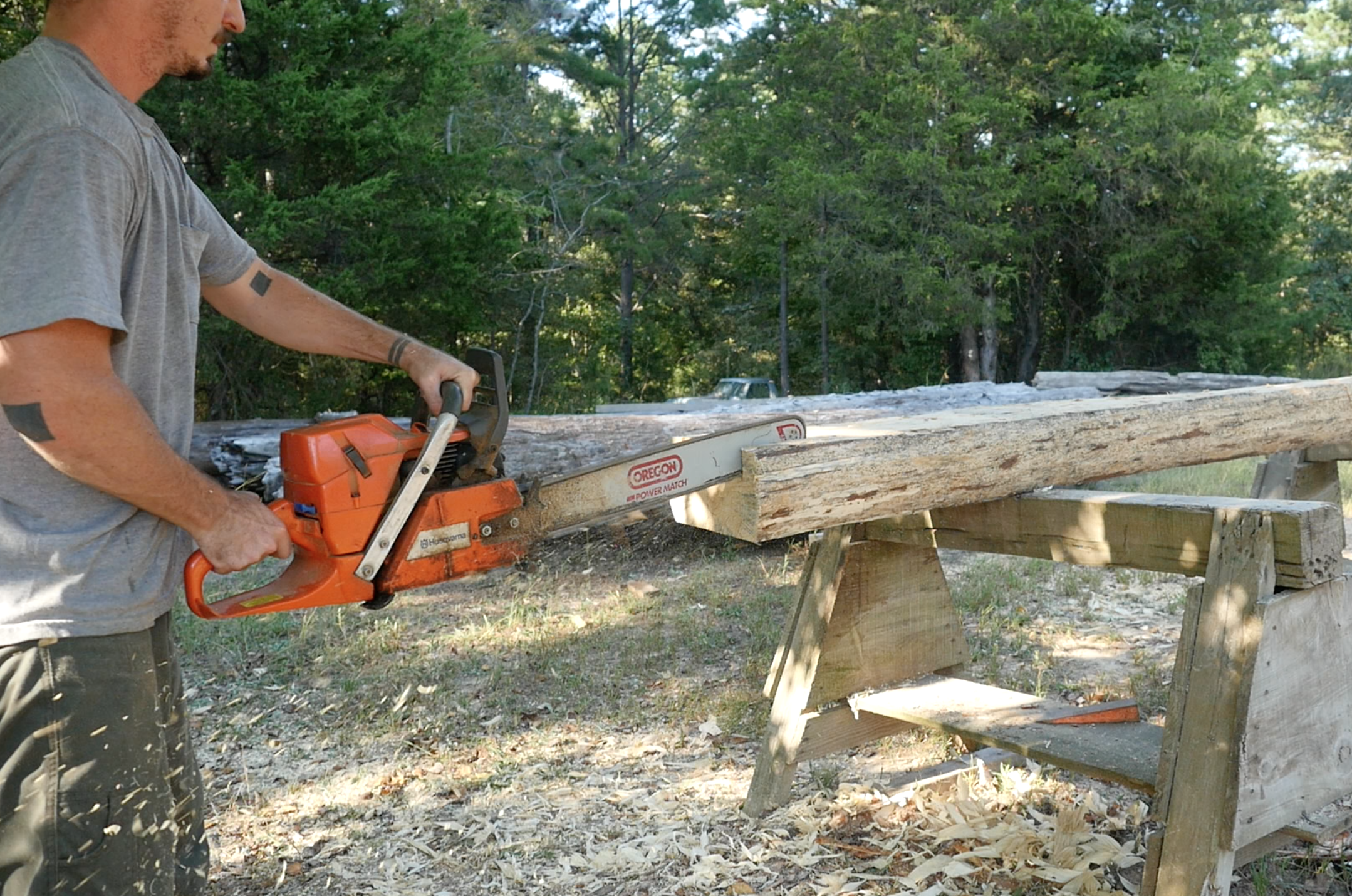 Chainsaw cut dovetail