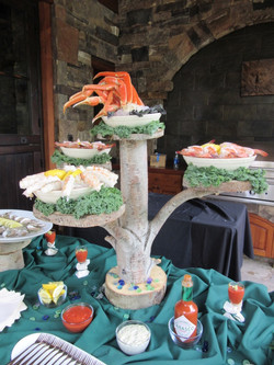 Colorado style seafood tower