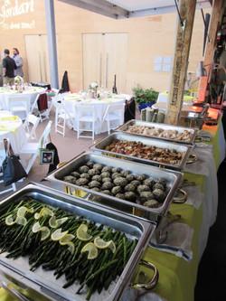 Wedding buffet at Theatre Aspen