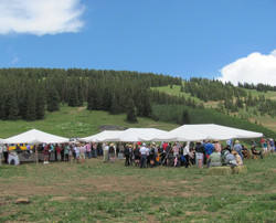 Catering a BBQ party for 400 on Aspen mountain