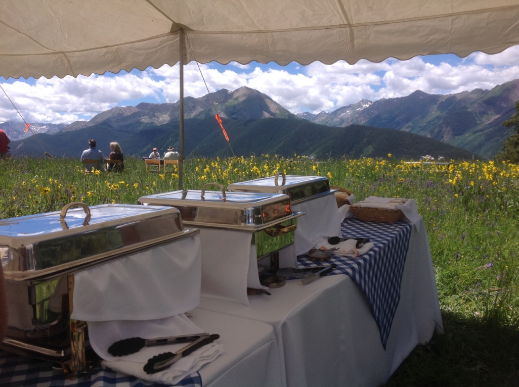 Catering in our beautiful mountains!