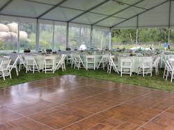 Dance floor at wedding reception