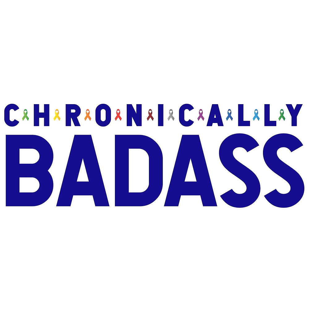 image shows chronically badass logo