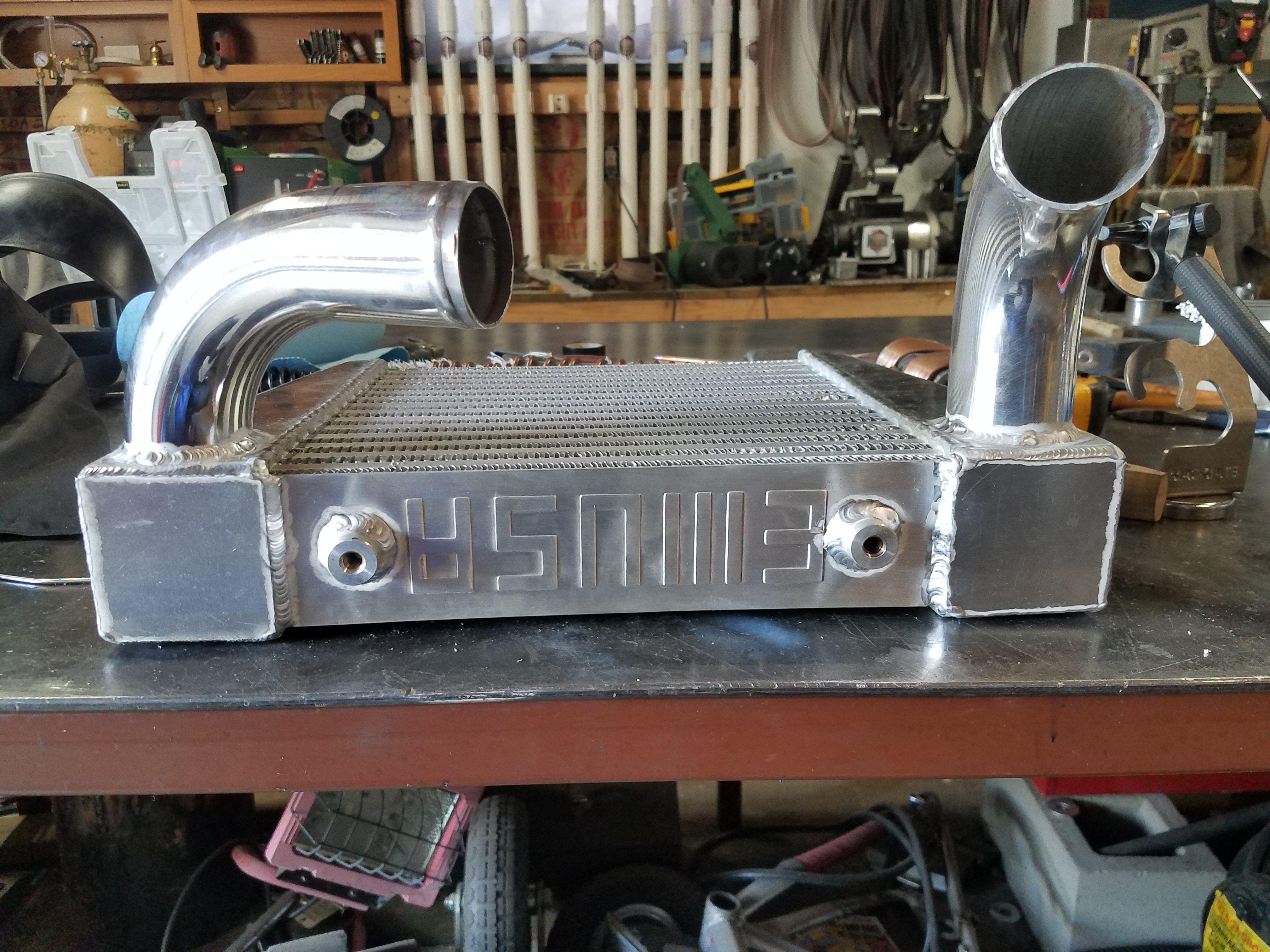 Aluminum intercooler