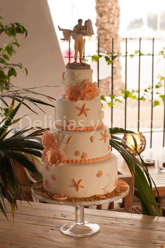 Tarta boda Mar