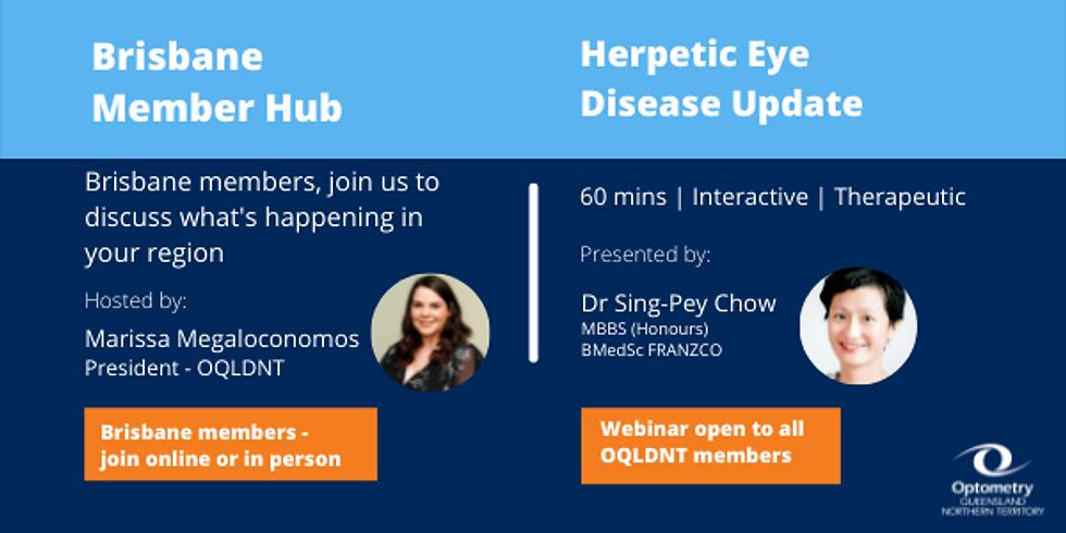 Brisbane Member Hub  and Herpetic Eye Disease Update