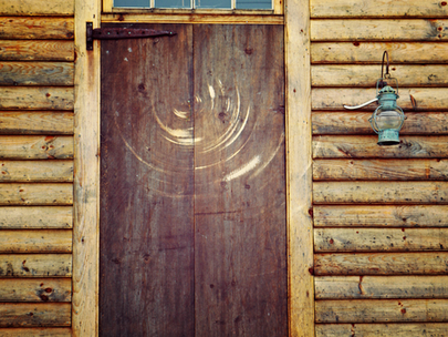 Knock on the door.