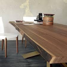 tavolo cattelan in legno 200 x 100 base metallo canna di fucile