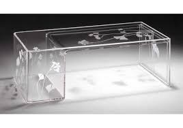 tavolino salotto kartell trasparente 85 x 40 alto 28 portagiornali