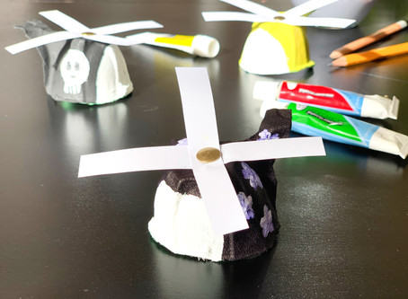 Easy Egg Carton Helicopters - Kids Crafts
