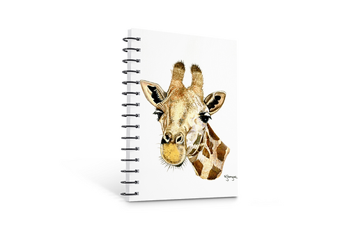 Giraffe notebook A5 size spiral bound 50 blank inner pages paper gifts Gateway Art Sales Abu Dhabi Dubai UAE