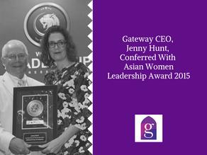 Gateway CEO, Jenny Hunt, Conferred With Asian Women Leadership Award 2015