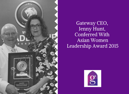 Gateway CEO, Jenny Hunt, Conferred With Asian Women Leadership Award 2015