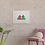 Pink & Green Beach Huts giclee print insitu plant chair cushion picture art Gateway Art Sales Abu Dhabi Dubai UAE