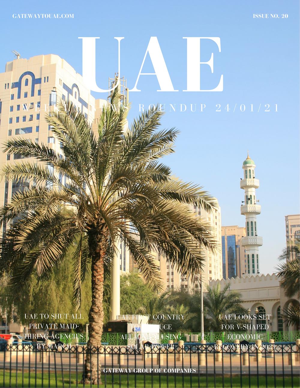 UAE business news headlines 24th January 2021 Issue 20 Gateway Group Of Companies Abu Dhabi Dubai