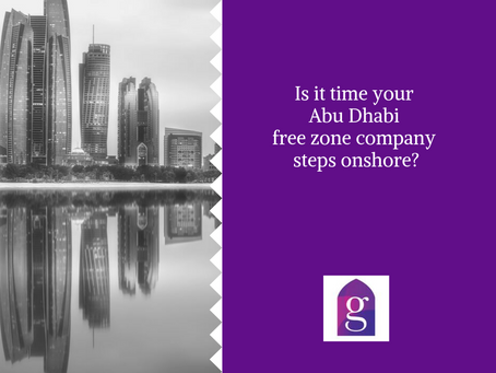 Is it time your Abu Dhabi free zone company steps onshore?