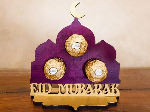 Eid Mubarak Ferrero Rocher Chocolate Holder Gift gifts in Abu Dhabi Al Ain Dubai UAE 2021 Gateway Art Sales hand painted