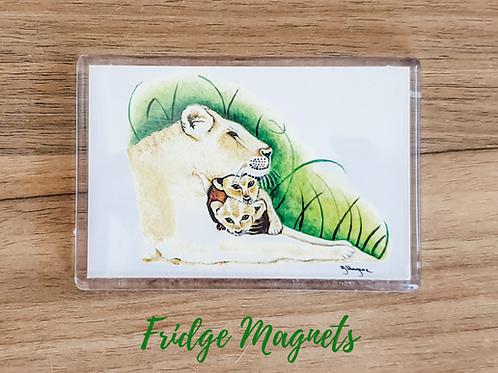 lioness fridge magnet acrylic fridge magnet wildlife animal animals gift Gateway Art Sales Abu Dhabi Dubai UAE