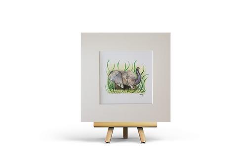 giclee art print elephant picture artwork easel decor square Gateway Art Sales Abu Dhabi Dubai UAE gift idea online mount