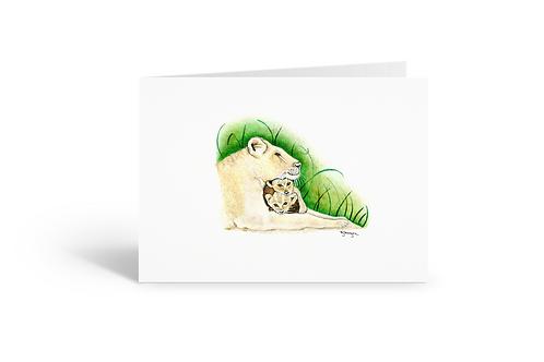 The Lioness greeting card birthday card thank you card Gateway Art Sales Abu Dhabi Dubai UAE
