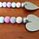 Pastel wood bead garland with hearts silver home decor Mother Day gift Abu Dhabi Dubai Al Ain Gateway Art Sales