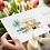 orange greeting card inisitu flowers hands birthday card thank you card Gateway Art Sales Abu Dhabi Dubai UAE