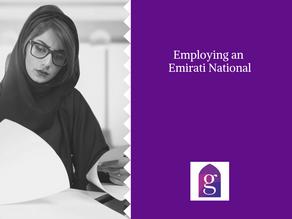 Employing an Emirati National