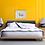 Orange Retro Caravan giclee print insitu artwork picture bedroom bed nightstands Gateway Art Sales Abu Dhabi Dubai UAE