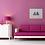Pink & Blue Beach Huts Giclee print insitu sofa living room sideboard lamp picture Gateway Art Sales Abu Dhabi Dubai UAE