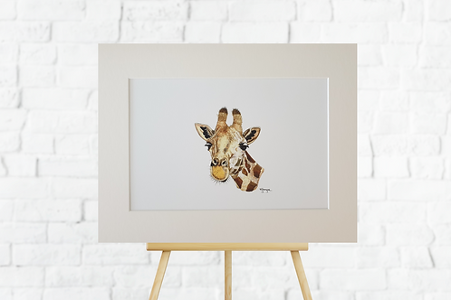 giraffe giclee print mount insitu easel picture artwork Gateway Art Sales Abu Dhabi Dubai UAE
