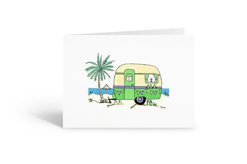 green caravan greeting card birthday card thank you card Gateway Art Sales Abu Dhabi Dubai UAE