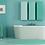 peacock giclee print square with mount home bathroom turquoise wall artwork picture Gateway Art Sales Abu Dhabi Dubai UAE