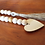 Natural wood bead garland with tassel and unfinished heart tiered tray decor in Abu Dhabi Dubai Gateway Art Sales Al Ain